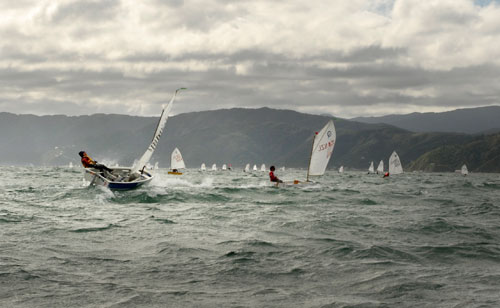 Oakley cranks it at the NZ optimist Nationals this year