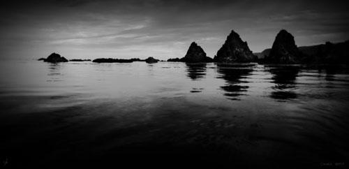 The pinnacles in Breaker Bay 2007