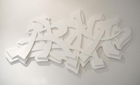 """""""Aroha"""" Plywood and matt finish acrylic 2009"""