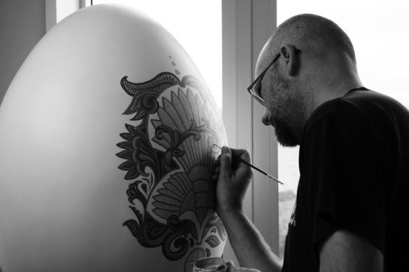 Jason painting egg
